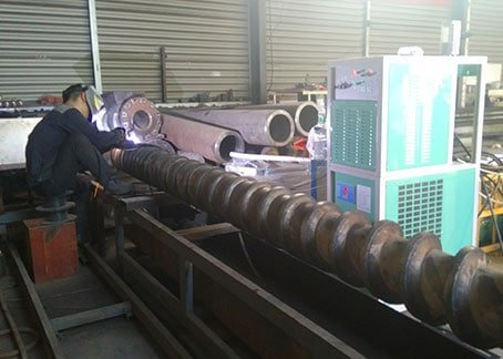 PTA hardfacing machine for lead screw